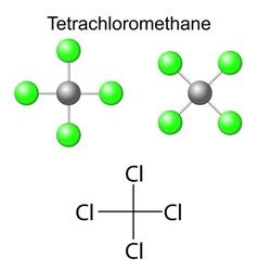 Chemical formula of carbon tetrachloride vector