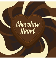 chocolate heart vector image