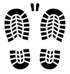 Clean shoe imprint vector