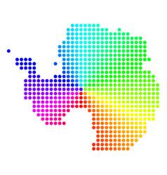 Colored circle dot antarctica map vector