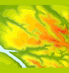 Contour elevation topographic map vector