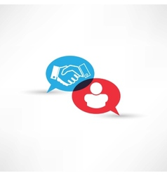 contract handshake icon vector image