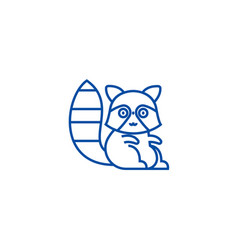 cute badger line icon concept cute badger flat vector image
