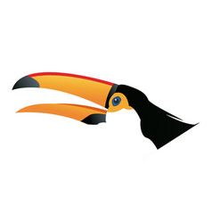 Cute cartoon toucan funny cartoon tropical bird vector