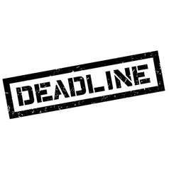 Deadline rubber stamp vector image