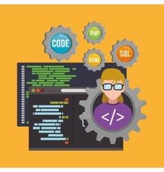 Developer web responsive design vector