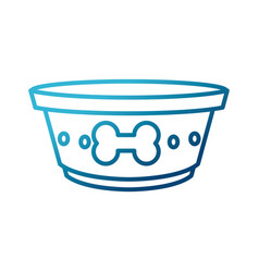 dog dish food vector image