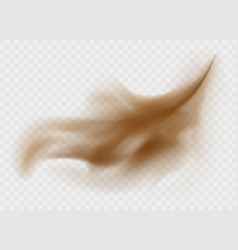 dust cloud isolated on a transparent background vector image