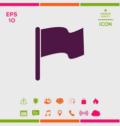 flag icon symbol vector image