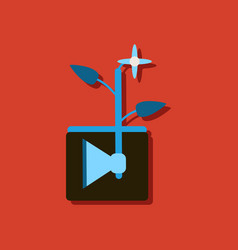 Flat icon design collection axe with buds vector
