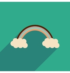 Flat web icon with long shadow rainbow vector