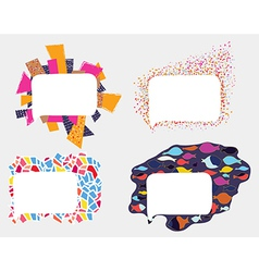 Frames and borders whimsical design vector image
