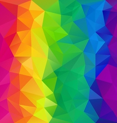 Full spectrum rainbow polygon triangular pattern vector