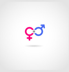 Gender equality concept icon vector