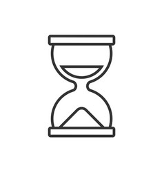 Hourglass line icon on a white background vector