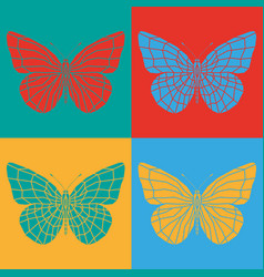Isolated colorful butterflies vector