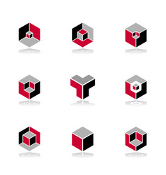 isometric design elements vector image