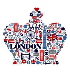 London Great Britain United Kingdom flat icons vector image