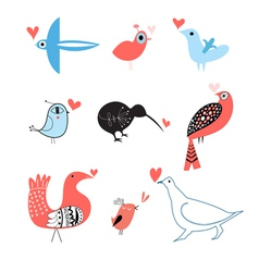 lovers of birds set vector image
