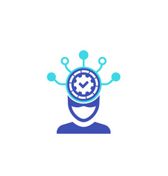 machine learning icon on white vector image
