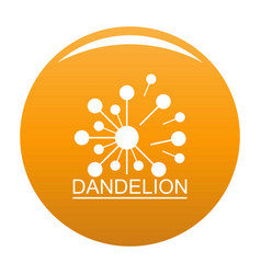Meadow dandelion logo icon orange vector
