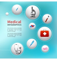 Medical bubble infographic vector