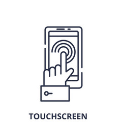 mobile touchscreen line icon concept mobil vector image