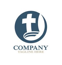 modern church bible logo vector image