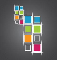 modern squares vector image