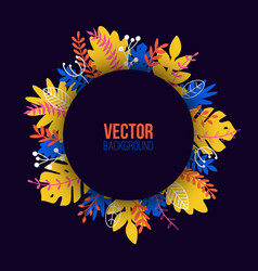 natural in trendy flat style with colorful exotic vector image