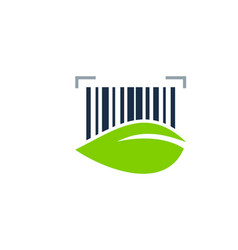 nature barcode logo icon design vector image