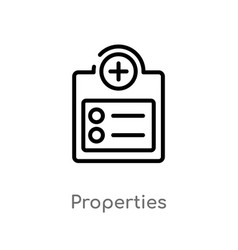 Outline properties icon isolated black simple vector