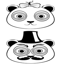 Panda male female vector