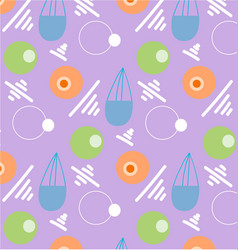 pattern retro vintage 80s or 90s vector image