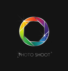 Photo shoot logo vector