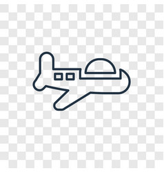 plane toy concept linear icon isolated on vector image