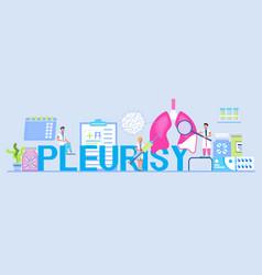 Pleurisy emphysema concept for header vector