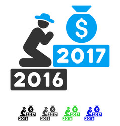 Pray for money bag 2017 flat icon vector