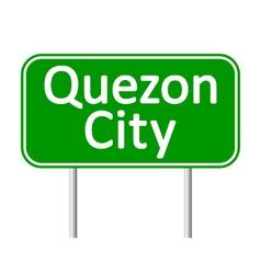 Quezon City road sign vector