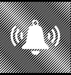 Ringing bell icon icon hole in moire vector