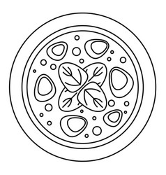 salami meat pizza icon outline style vector image