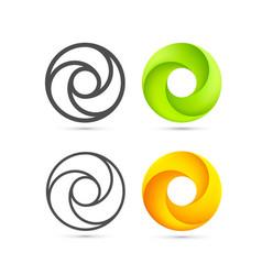 set abstract infinite loop template vector image