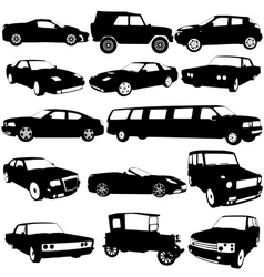 Set black silhouettes of different types of the vector image