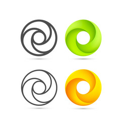 set of abstract infinite loop template vector image vector image