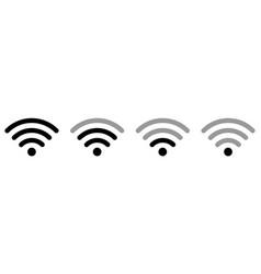 set signal icon vector image
