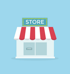 shop icon flat design vector image