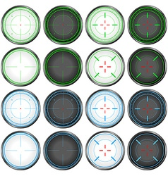 Sniper Scope Target Colorful Set vector
