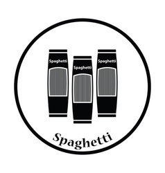 Spaghetti package icon vector image