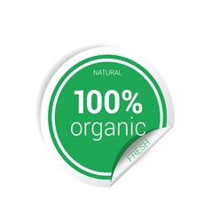 sticker of organic fresh green vector image vector image