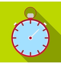 Stopwatch icon flat style vector